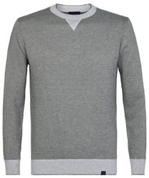 Elegancki szary sweter z grubym ściągaczem l