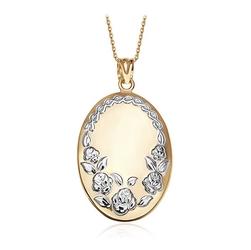 Staviori wisiorek. żółte, białe złoto 0,333.   model ozdobiono ornamentami w kształcie róży.