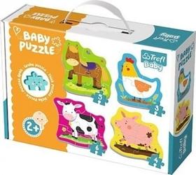 Puzzle baby classic zwierzęta na safari trefl 36073