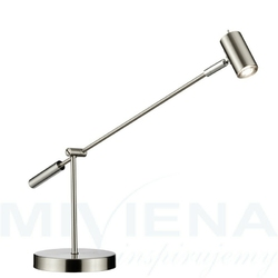 Lampa stołowa led stal  60 cm