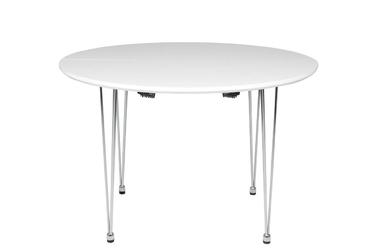 Stół malta rozkładany 110-160x74 cm biały