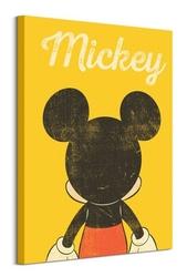 Mickey mouse back distressed - obraz na płótnie