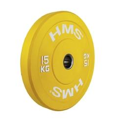 Obciążenie olimpijskie gumowane cbr15 15 kg - hms - 15 kg