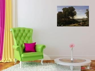 krajobraz z apollem i muzami - claude lorrain ; obraz - reprodukcja