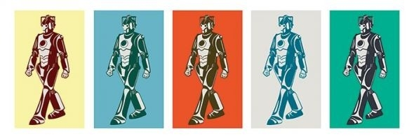 Doctor who walking cyberman - plakat