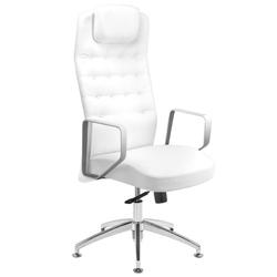 Fotel kosmetyczny rico 199 do pedicure i makijażu biały