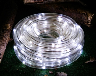 Wąż świetlny solarny 100 led joylight 10 m zimny biały z programatorem  8 funkcji ip44