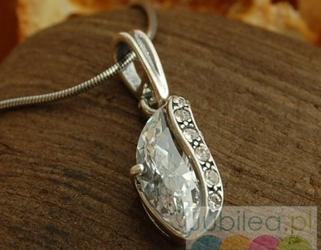 Insbruck - srebrny wisiorek z kryształkami swarovskiego