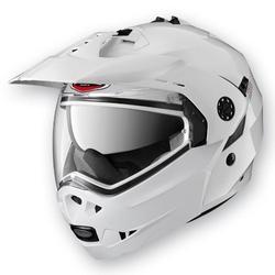 Caberg kask szczękowy flip-up enduro model tourmax pinlock kolor biały metalik, czarny mat55 gwiazdek w testach sharp