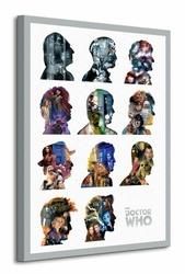 Doctor Who Silhouettes - Obraz na płótnie