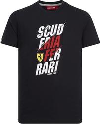 Koszulka scuderia ferrari czarna - czarny