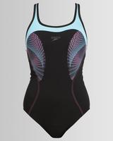Kostium speedo fit kickback af czarno-niebieski