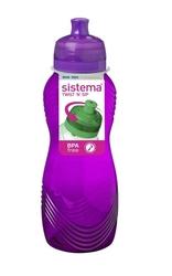 Kolorowa butelka sistema wave 600 ml, fioletowa - fioletowy