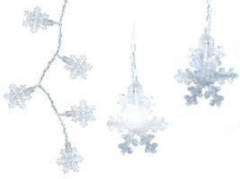 Śnieżynki 40 led ozdoba lampki choinkowe płatki 6m dekoracyjne wewnętrzne