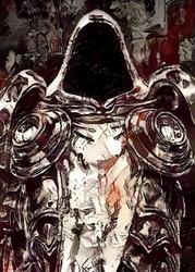 Legends of bedlam - tyrael, diablo - plakat wymiar do wyboru: 59,4x84,1 cm