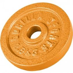 2,5 kg obciążenie na sztangę żeliwne złote 30 mm gorilla sports