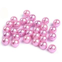 Woskowane perły dekoracyjne 10mm10szt - różowy - RÓŻ