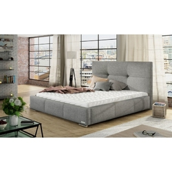 Łóżko z materacem lily 160x200 cm z pojemnikiem szare