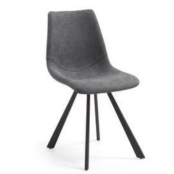 Krzesło z eko-skóry andi szare