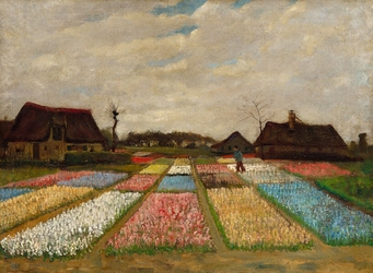 Flower beds in holland, vincent van gogh - plakat wymiar do wyboru: 29,7x21 cm