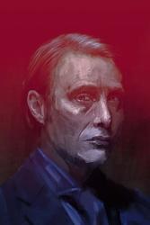 Mads mikkelsen - plakat premium wymiar do wyboru: 59,4x84,1 cm