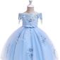 Błękitna sukienka dla dziewczynki jak dla księżniczki 057
