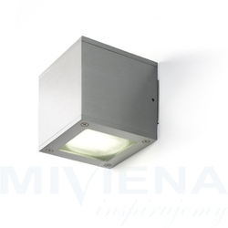 Dibi duo ścienna aluminium 230v gx53 2x7w