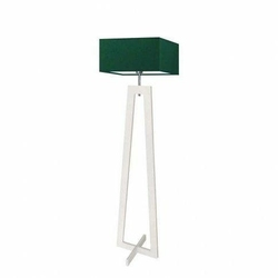 Lampa podłogowa jawa abażur zieleń butelkowa stelaż biały - zielony butelkowy