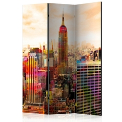 Parawan 3-częściowy - colors of new york city iii room dividers