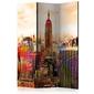 Parawan 3-częściowy - colors of new york city iii room dividers
