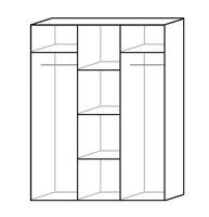 Szafa ubraniowa otwierana musima 3-drzwiowa