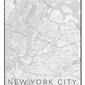Nowy jork mapa czarno biała - plakat wymiar do wyboru: 40x50 cm