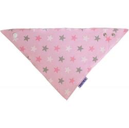 Apaszka-śliniak dooky dribble bib - pink stars