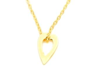 Srebrny naszyjnik pr. 925 serce złocony z zawieszką i blaszką przy zapięciu 41-44,5 cm grawer