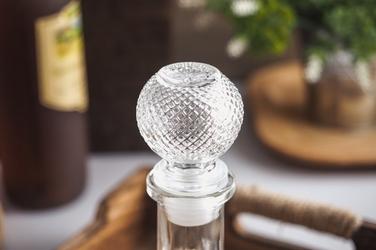 Karafka szklana z korkiem 500 ml okrągła