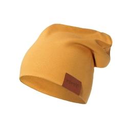 czapka podwójna musztardowa