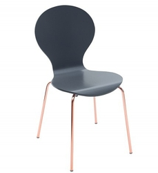 Krzesło do jadalni Karla nowoczesne miedź