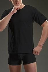 Cornette authentic 202+ krótki rękaw czarny koszulka