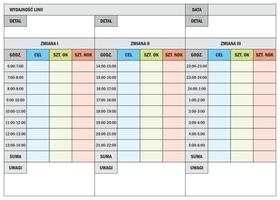 Tablica suchościeralna lean wydajność linii produkcyjnej 24h 068