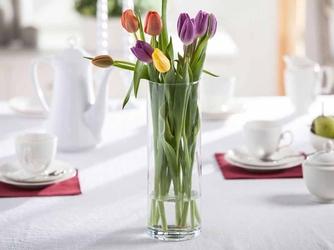 Wazon szklany na kwiaty cylinder 30 cm
