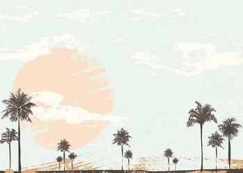 Tablica suchościeralna drukowana 088 palmy