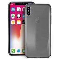 Puro 0.3 nude - etui iphone x czarny przezroczysty