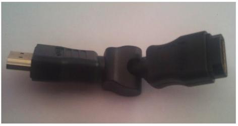 Logilink adapter kątowy hdmi typ a męski do żeński