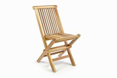 Krzesło dziecięce ogrodowe z drewna tekowego