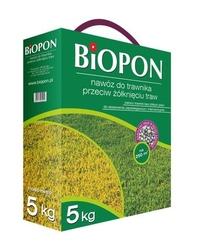 Biopon, nawóz granulowany do trawnika przeciw żółknięciu, 5kg