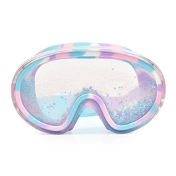 Maska do pływania błękitnym brokatem i gwiazdkami, bling2o