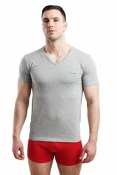Pierre cardin vneck szara koszulka męska