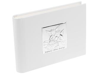 Album aniołki pamiątka chrztu skóra srebro 925 dedykacja