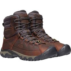 Buty trekkingowe męskie keen targhee lace boot high wp - brązowy
