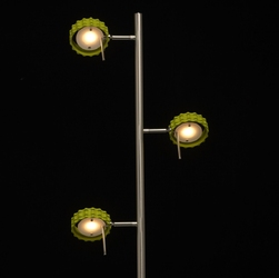 Lampa podłogowa led biało-zielona regenbogen techno 705040303